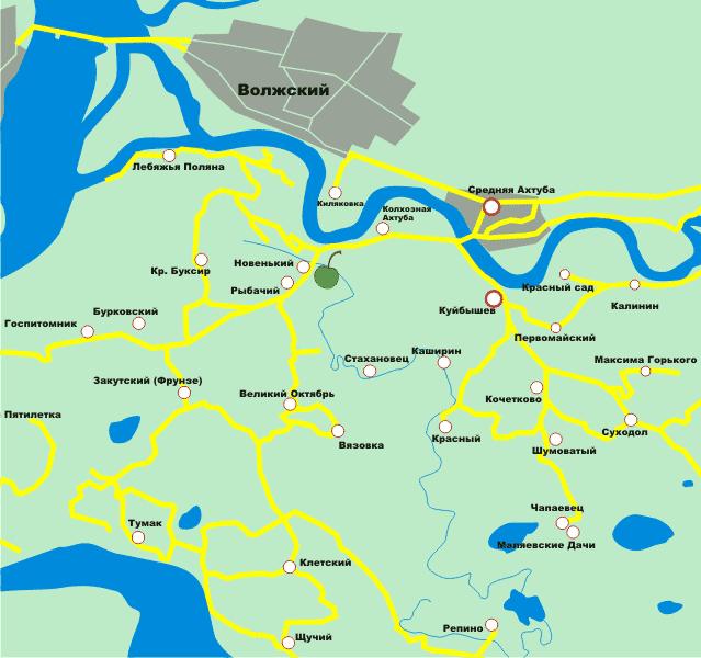 Осинки на карте